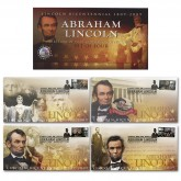 PRESIDENT ABRAHAM LINCOLN Bicentennial 2009 First Day of Issue Set of 4 U.S. Stamps on Pictorial Envelope Postmarked Covers