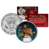 """MUHAMMAD ALI """" Young Champ """" JFK Kennedy Half Dollar U.S. Coin"""