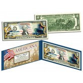 TITANIC RMS SHIP - Americana - Genuine Legal Tender Colorized U.S. $2 Bill