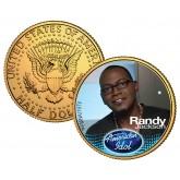 RANDY JACKSON American Idol 2009 JFK Kennedy Half Dollar 24K Gold Plated U.S. Coin