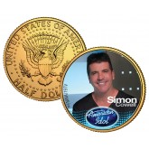 SIMON COWELL American Idol 2009 JFK Kennedy Half Dollar 24K Gold Plated U.S. Coin