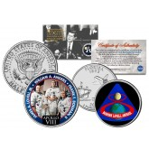 APOLLO 8 VIII SPACE MISSION Colorized 2-Coin Set U.S. Florida Quarter & JFK Half Dollar - NASA ASTRONAUTS