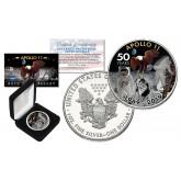 APOLLO 11 50th Anniversary Man on Moon Landing 1 oz PURE SILVER AMERICAN U.S. EAGLE in Deluxe Black Felt Coin Display Gift Box