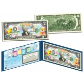 IT'S A GIRL Birth Announcement Keepsake Baby Gift Legal Tender Colorized $2 Bill