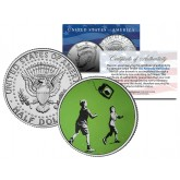 BANKSY - VIRTUAL PLAY - Colorized JFK Half Dollar U.S. Coin - Street Art Graffiti