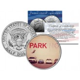 BANKSY - PARKING GIRL SWING - Colorized JFK Half Dollar U.S. Coin - Street Art Graffiti