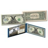 1899 Black Eagle Dual Presidents One-Dollar Silver Certificate designed on modern $1 bill