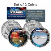 U.S. WEAPONS ARSENAL - Bombs - JFK Kennedy Half Dollars US 2-Coin Set