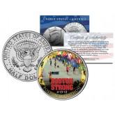 BOSTON STRONG 4-15-13 Colorized JFK Kennedy Half Dollar US Coin BOSTON MARATHON