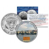 CHARLES BRIDGE - Famous Bridges - Colorized JFK Half Dollar US Coin Prague Czech Republic