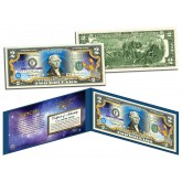 CANCER - Horoscope Zodiac - Genuine Legal Tender Colorized U.S. $2 Bill