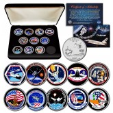 SPACE SHUTTLE CHALLENGER MISSIONS NASA Florida Statehood Quarters 10-Coin Set with BOX