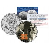 CHARLIE CHAPLIN Colorized JFK Kennedy Half Dollar US Coin - Genuine Legal Tender