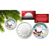 MERRY CHRISTMAS * Hockey Santa Claus *  Royal Canadian Mint Medallion Coin with XMAS Capsule