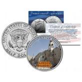 CHURCH OF THE NATIVITY - Famous Churches - Colorized JFK Half Dollar U.S. Coin Bethlehem