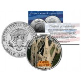 SAINT PATRICK'S CATHEDRAL - Famous Churches - Colorized JFK Half Dollar U.S. Coin New York