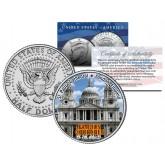 SAINT PAUL'S CATHEDRAL - Famous Churches - Colorized JFK Half Dollar US Coin London England