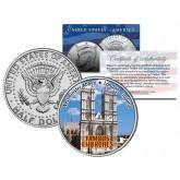 WESTMINSTER ABBEY - Famous Churches - Colorized JFK Half Dollar U.S. Coin London England
