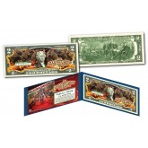"RINGLING BROTHERS AND BARNUM & BAILEY CIRCUS "" The Greatest Show on Earth "" Famous Elephants Genuine Legal Tender U.S. $2 Bill"