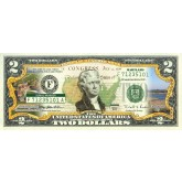 MARYLAND State/Park COLORIZED Legal Tender U.S. $2 Bill with Security Features