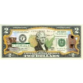 NEW MEXICO State/Park COLORIZED Legal Tender U.S. $2 Bill with Security Features