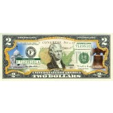 PENNSYLVANIA State/Park COLORIZED Legal Tender U.S. $2 Bill with Security Features