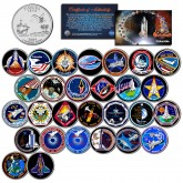 SPACE SHUTTLE COLUMBIA MISSIONS - Colorized Florida Quarters US 28-Coin Set - NASA