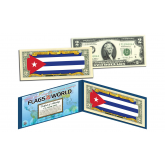 CUBA - Official Flags of the World Genuine Legal Tender U.S. $2 Two-Dollar Bill Currency Bank Note