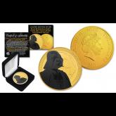 2017 Niue 1 oz Pure Silver BU Star Wars DARTH VADER Coin 24KT Gold Clad with BLACK RUTHENIUM DARTH VADER