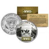 World War II - D-DAY INVASION 1944 - JFK Kennedy Half Dollar US Coin