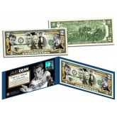 JAMES DEAN - Rebel Without a Cause - Legal Tender U.S. Colorized $2 Bill - Officially Licensed