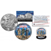 DEFENDERS OF FREEDOM U.S. Military Official Genuine Legal Tender IKE Eisenhower One Dollar U.S. Coin