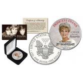 PRINCESS DIANA 1997-2017 20th ANNIVERSARY Official 1 oz PURE SILVER AMERICAN U.S. EAGLE