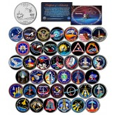 SPACE SHUTTLE DISCOVERY MISSIONS - Colorized Florida Quarters US 39-Coin Set - NASA