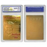 DONALD TRUMP 45th President 23K GOLD Sculpted Card SIGNATURE KAG 2020 Edition - GRADED GEM MINT 10