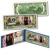 Donald & Melania Trump White House MERRY CHRISTMAS XMAS Official Genuine Legal Tender U.S. $2 Bill
