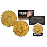 Donald Trump 2017 Inauguration 45th President of the United States Official 24K Gold Clad Tribute Coin