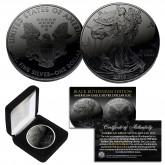 BLACK RUTHENIUM 1 oz .999 Fine Silver 2019 American Eagle U.S. Coin and Deluxe Felt Display Box