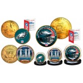 Super Bowl 52 NFL Champions Philadelphia Eagles 24K Gold Plated 3-Coin US Set