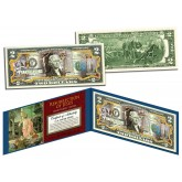 HAPPY EASTER - Religious Gift - Colorized $2 Bill U.S. Legal Tender