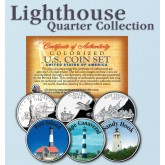 Historic American - LIGHTHOUSES - Colorized US Statehood Quarters 3-Coin Set #5 - Fire Island (NY) Cape Canaveral (FL) Sandy Hook (NJ)
