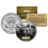 World War II - GENERAL EISENHOWER - JFK Kennedy Half Dollar US Coin