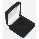 Black Felt COIN DISPLAY GIFT METAL DELUXE PLUSH BOX holds 1-Half Dollar U.S.