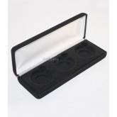 Lot of 5 Black Felt COIN DISPLAY GIFT METAL DELUXE PLUSH BOX for 3-Half Dollars U.S.