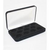 Black Felt COIN DISPLAY GIFT METAL PLUSH BOX holds 11-Quarters or Presidential $1 or Sacagawea Dollars