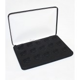 Black Felt COIN DISPLAY GIFT METAL PLUSH BOX holds 15-Quarters or Presidential $1 or Sacagawea Dollars