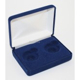 Lot of 5 Blue Felt COIN DISPLAY GIFT METAL BOX for 2-Quarters or Presidential $1 or Sacagawea Dollars