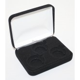 Black Felt COIN DISPLAY GIFT METAL PLUSH BOX holds 3-Quarters or Presidential $1 or Sacagawea Dollars