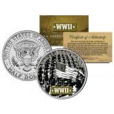 World War II - AFRICAN AMERICAN SOLDIERS - JFK Kennedy Half Dollar US Coin