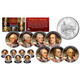 THE FOUNDING FATHERS of The United States WASHINGTON DC Statehood Quarters 7-Coin Set